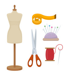 Accessories for needlework vector