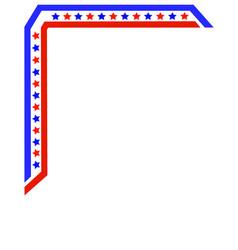 American flag frame corner vector