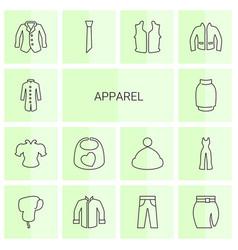 Apparel icons vector