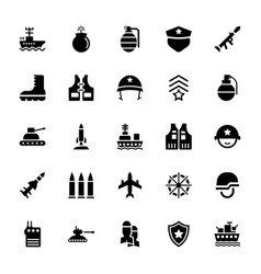 Armed services icons pack vector