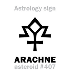 astrology asteroid arachne vector image
