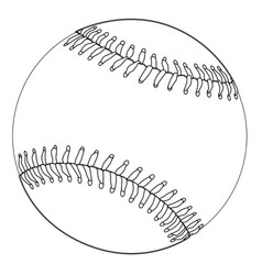 Baseball black and white sketch vector