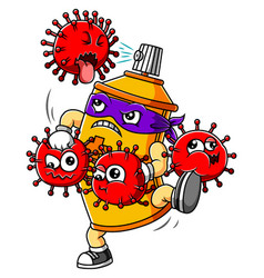 Bottle sprayer hand sanitizer fight corona virus vector