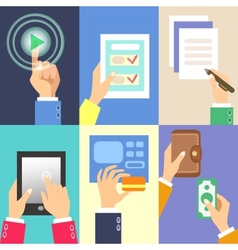 business hands vector image