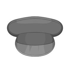 Cap icon black monochrome style vector
