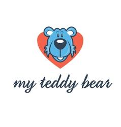 Cartoon bear head in heart vector