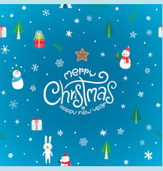 christmas card with lettering inscription logo vector image