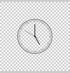 clock icon on transparent background time icon vector image