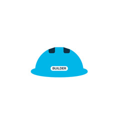 construction helmet icon colored symbol premium vector image