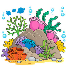 Coral reef theme image 1 vector
