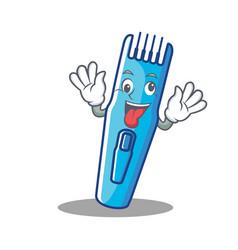 Crazy trimmer mascot cartoon style vector