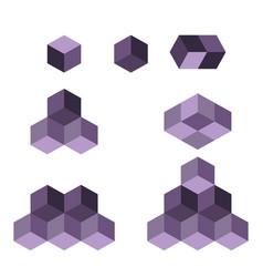 Cube logo concept flat vector