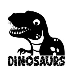cute dinosaur icon vector image