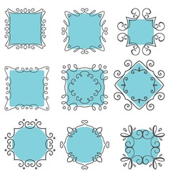 cute hand drawn frames 2007 vector image