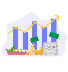 economic growth concept can be used for landing vector image