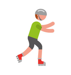 ethlete practicing skate avatar vector image