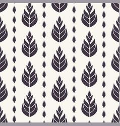 Ethnic leaf motif stripes scandi style vector