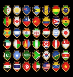 flags badges vector image