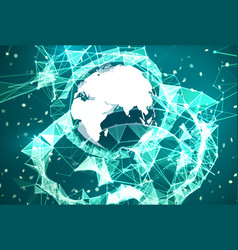 Global network connection background vector