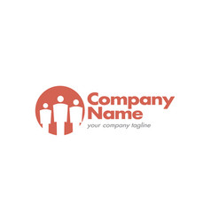 group three people logo vector image