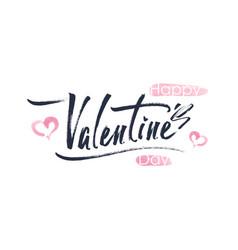 happy valentines day typography vector image