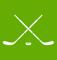 Hockey icon green vector