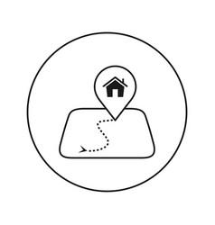 house on map mark editable thin line vector image