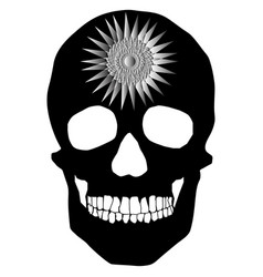 Human skull geometry and design vector