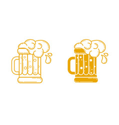 icon glass of beer linear style vector image