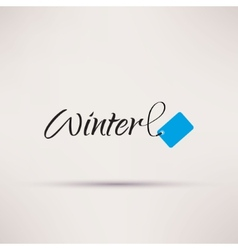 Icon of sale seasonal Winter Isolated vector image