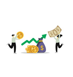 Investment financial business persons increasing vector