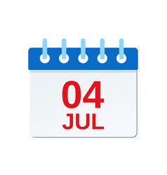 July 4th calendar icon independence day vector