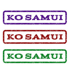 Ko samui watermark stamp vector