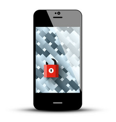 locked phone symbol vector image