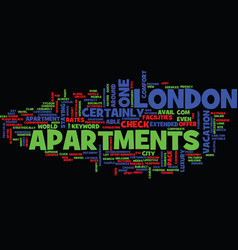 London apartments text background word cloud vector