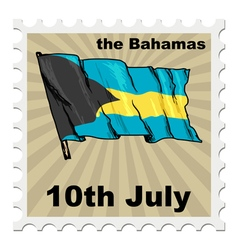 National day of Bahamas vector
