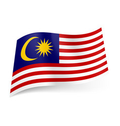 national flag of malaysia red and white vector image