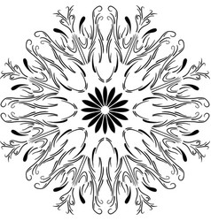 Outline floral mandala circular ornament vector