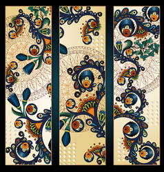 Paisley batik background Ethnic tribal cards vector image