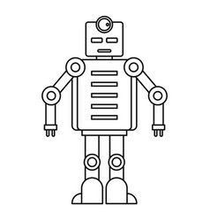 Robot icon outline style vector