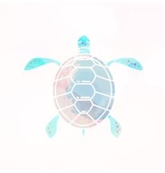 Sea turtle silhouette vector