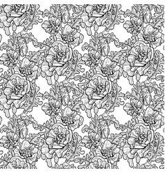 seamless pattern decorative black and white vector image
