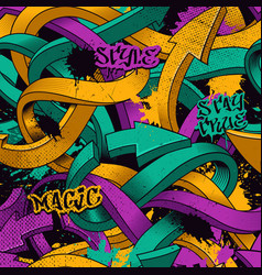 Seamless pattern with graffiti arrows vector