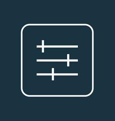 setting icon line symbol premium quality isolated vector image