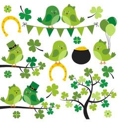 St Patrick Birds vector
