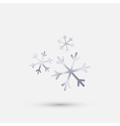 Steel icon snow vector