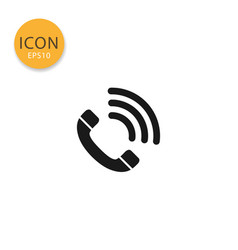 telephone call icon isolated flat style vector image