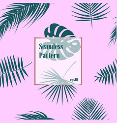 tropical pattern seamless palm leaves background vector image