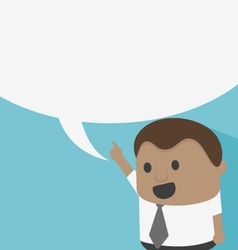 Young African businessman with speech bubbles vector image vector image
