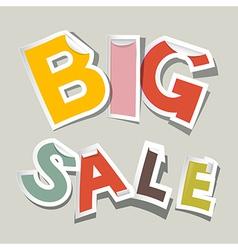 Big Sale Paper Stickers vector image